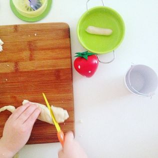 Play dough cutting